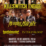 KILLSWITCH ENGAGE Y MEMPHIS MAY FIRE en Chile (19/08/14)