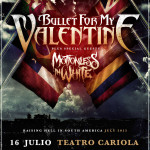 Bullet For My Valentine/ Motionless In White en Chile (16/07/15)