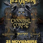 METAL ATTACK! Testament/ Cannibal Corpse/ Dorso / All Tomorrows/ Cerberus (25/11/15)