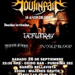 SOULINPAIN – BLEAK FLESH – IN COLD BLOOD – LEFUTRAY (26/09/15)