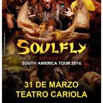 SOULFLY en Chile (31/03/16)