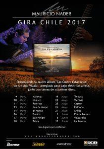 Afiche Gira Mayo Chile 2017 Mauricio Nader
