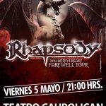 Rhapsody en Chile, Teatro Caupolican 05/05/17