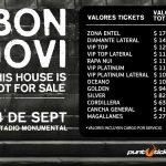 Preventa para Bon Jovi en Chile 2017