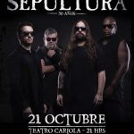 Sepultura en Chile 21/10/17