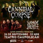 Cannibal Corpse y Napalm Death en Chile  26/09/18