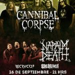 Cannibal Corpse, Napalm Death, Destruction (26/09/18)