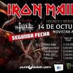 Iron Maiden Agota preventa para su segundo show