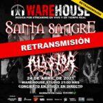 Retransmisión de los show de las bandas Alastor y parte del concierto de Santa Sangre