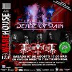 METAL: Warehouse presenta a Desire Of Pain + Throne Of Evil / Sáb 7 Agosto