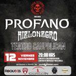 ROCK: Profano vuelve a los escenarios, junto a Hielo Negro, en Teatro Caupolicán