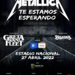 METAL: Metallica regresará a Sudamérica en 2022 con los invitados especiales Greta Van Fleet y Yajaira